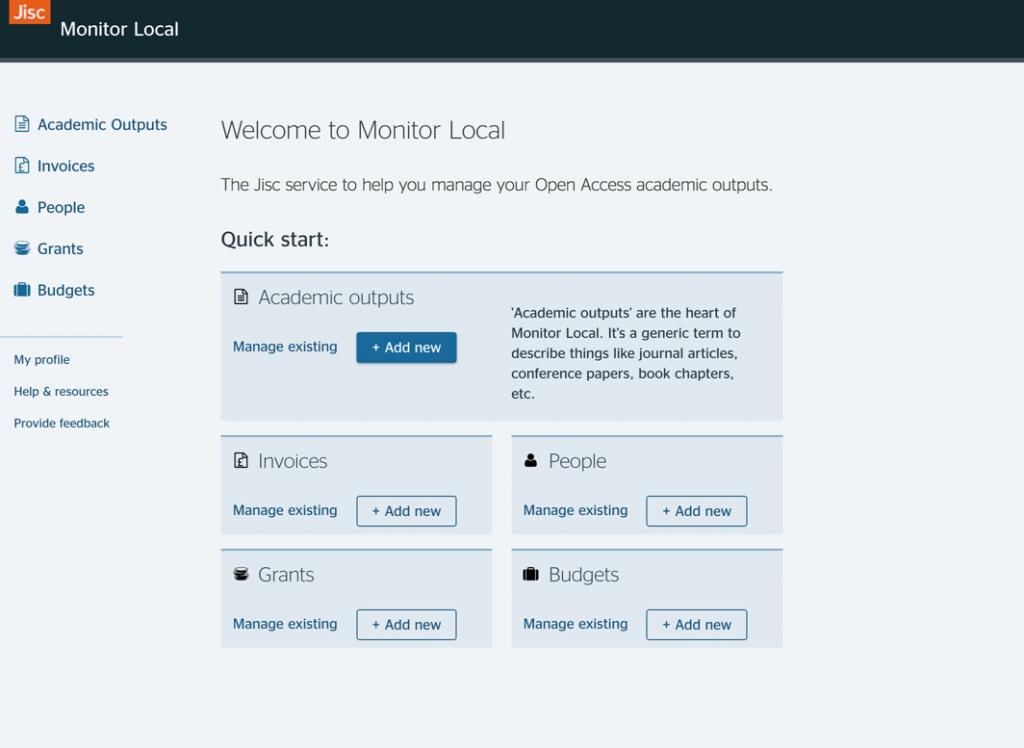 Jisc Monitor Local